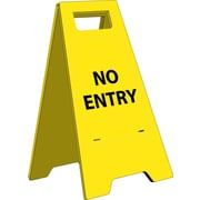 Floor Sign, Heavy Duty, No Entry, English Only, 10 3/4X24 5/8