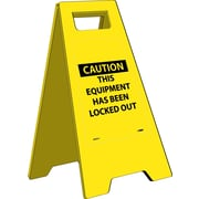 Heavy Duty Floor Sign, Caution This Equipment Has Been Locked Out, 24.63X10.75