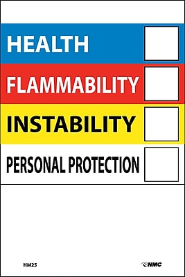 Right To Know Labels Write On Color Bar 6X4 Adhesive Vinyl 10/Pk