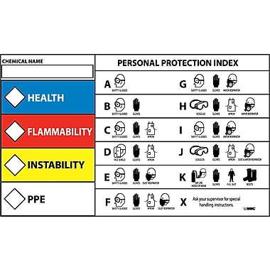 Rtk Protective Equipment Label, 3X5, Adhesive Vinyl, 5/Pk