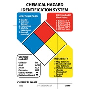 "Nfpa Chart With 3 Sets Of 2""Numbers 0-4 And Six Symbols, 14X10, Adhesive Vinyl"