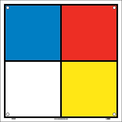Hazard Identification System Labels, 8X8, Rigid Plastic