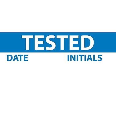 Inspection Label, Tested, Blue/White, 1
