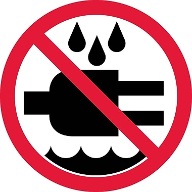 Label, Graphic For Do Not Expose To Water, 2In Dia, Adhesive Vinyl