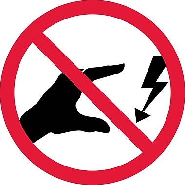Label, Graphic For Do Not Touch Electrical Hazard, 2In Dia, Adhesive Vinyl