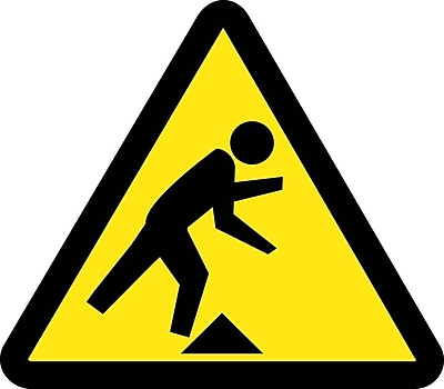 Label, Graphic For Tripping Hazard, 2In Dia, Adhesive Vinyl