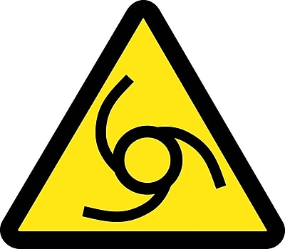 Label, Graphic For Automatic Or Remote Starting Hazard, 2In Dia, Adhesive Vinyl
