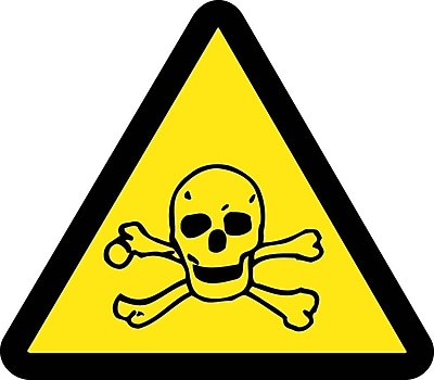 Label, Graphic For Toxic Hazard, 2In Dia, Adhesive Vinyl