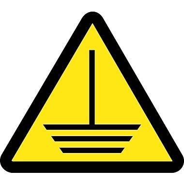 Label, Graphic For Electric Ground Hazard, 2In Dia, Adhesive Vinyl