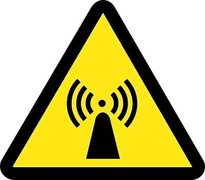 Label, Graphic For Electro Magnetic Hazard, 2In Dia, Adhesive Vinyl