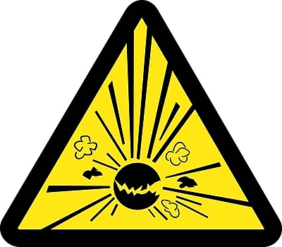 Label, Graphic For Explosives Hazard, 2In Dia, Adhesive Vinyl