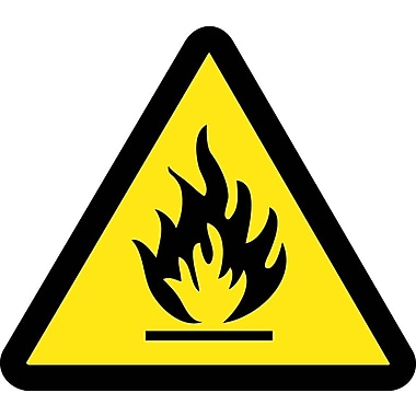 Label, Graphic For Fire Hazard, 2In Dia, Adhesive Vinyl