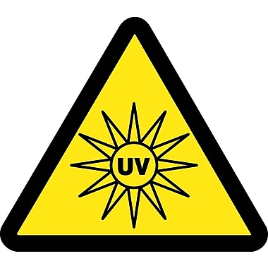 Label, Graphic For Uv Hazard, 2In Dia, Adhesive Vinyl