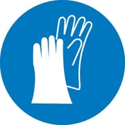 Label, Graphic For Wear Hand Protection, 4In Dia, Adhesive Vinyl