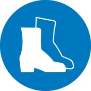 Label, Graphic For Wear Foot Protection, 4In Dia, Adhesive Vinyl