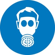 Label, Graphic For Wear Respiratory Protection, 4In Dia, Adhesive Vinyl