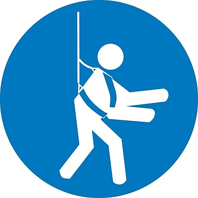 Label, Graphic For Wear Safety Harness, 4In Dia, Adhesive Vinyl