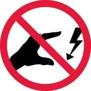 Label, Graphic For Do Not Touch Electrical Hazard, 4In Dia, Adhesive Vinyl