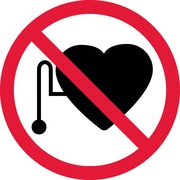 Label, Graphic For No Pacemakers, 4In Dia, Adhesive Vinyl