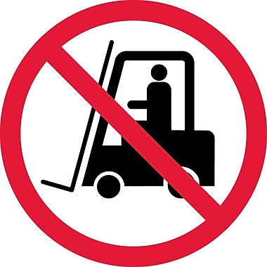 Label, Graphic for No Industrial Trucks, 4