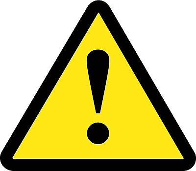 Label, Graphic For No General Warning Hazard, 4In Dia, Adhesive Vinyl