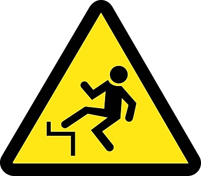 Label, Graphic For Step Off Hazard, 4In Dia, Adhesive Vinyl