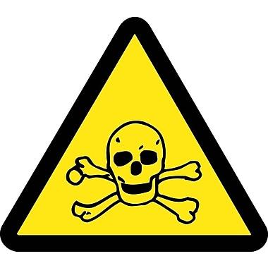 Label, Graphic For Toxic Hazard, 4In Dia, Adhesive Vinyl