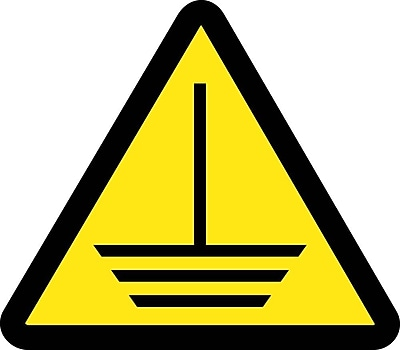 Label, Graphic For Electric Ground Hazard, 4In Dia, Adhesive Vinyl