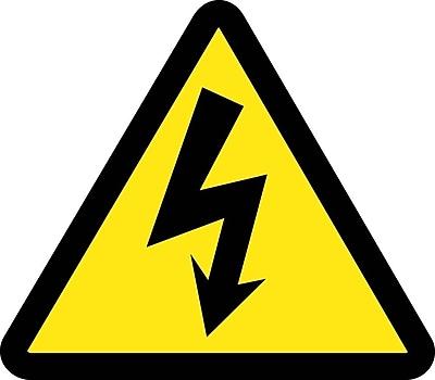 Label, Graphic For Electric Voltage Hazard, 4In Dia, Adhesive Vinyl