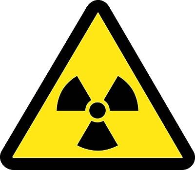 Label, Graphic For Radioactive Material Hazard, 4In Dia, Adhesive Vinyl
