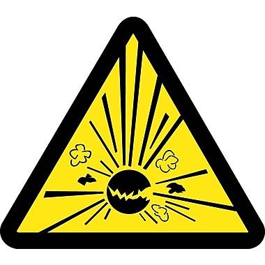 Label, Graphic For Explosives Hazard, 4In Dia, Adhesive Vinyl