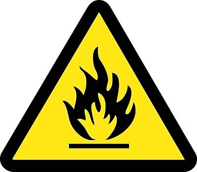 Label, Graphic For Fire Hazard, 4In Dia, Adhesive Vinyl