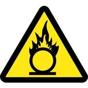 Label, Graphic For Oxidizing Materials Hazard, 4In Dia, Adhesive Vinyl