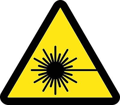 Label, Graphic For Laser Hazard, 4In Dia, Adhesive Vinyl