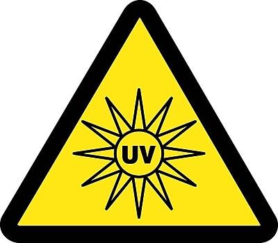 Label, Graphic For Uv Hazard, 4In Dia, Adhesive Vinyl