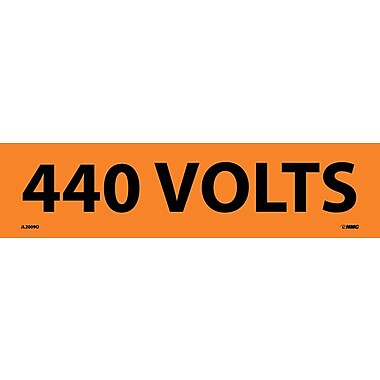 Voltage Marker, Adhesive Vinyl, 440 Volts, 2-1/4
