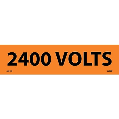 Voltage Marker, Adhesive Vinyl, 2400 Volts, 2-1/4