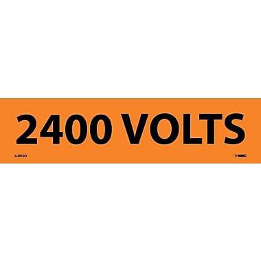 Voltage Marker, Adhesive Vinyl, 2400 Volts, 2 1/4X9