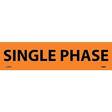 Voltage Marker, Adhesive Vinyl, Single Phase, 2-1/4