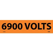 Electrical Markers, 6900 Volts, 2.25X9, Adhesive Vinyl, 25/Pk