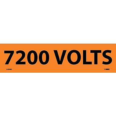 Electrical Markers, 7200 Volts, 2.25X9, Adhesive Vinyl, 25/Pk