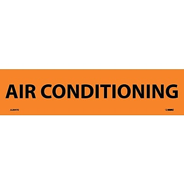 Electrical Markers, Air Conditioning, 2.25X9, Adhesive Vinyl, 25/Pk