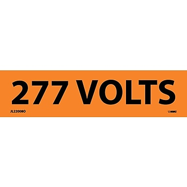 Voltage Marker, Adhesive Vinyl, 277 Volts, 1-1/8