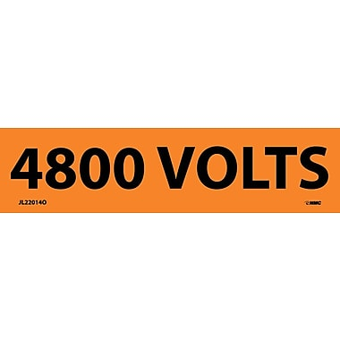 Voltage Marker, Adhesive Vinyl, 4800 Volts, 1-1/8
