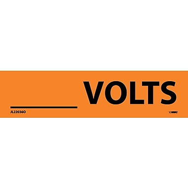 Electrical Markers, ____Volts, 1.125