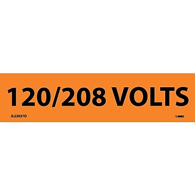 Electrical Markers, 120/208 Volts, 1.125