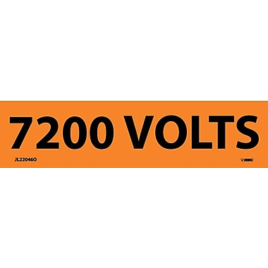 Electrical Markers, 7200 Volts, 1.125X4.5, Adhesive Vinyl, 25/Pk