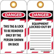 Lockout Lockout Tags, Lockout, Danger This Tag & Lock To Be Removed Only