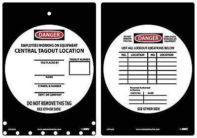Lockout Lockout Tags, Lockout, 14X10, Rigid Plastic