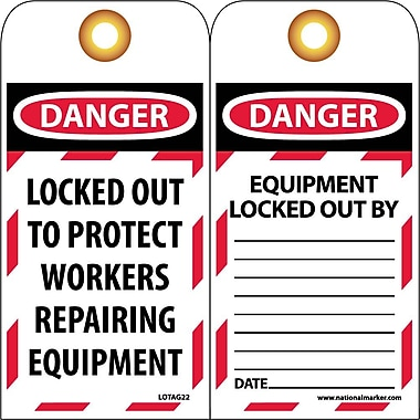 Lockout Tags, Lockout, Danger Locked Out To Protect Workers..., 6